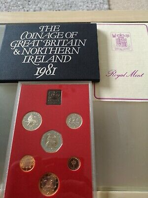 1981 Royal Mint Proof Coin Set With Toning