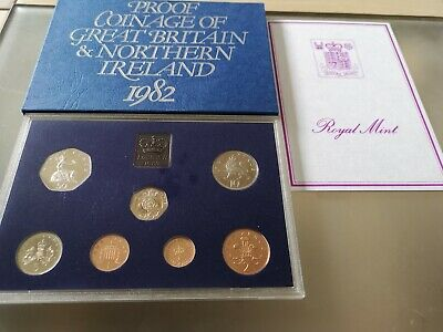 1982 Royal Mint Coinage of Great Britain & Northern Ireland Proof Coin Set