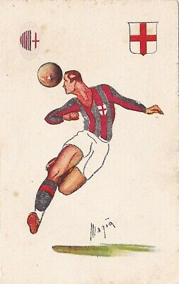 Calcio/Football Cartolina MILAN FOOTBALL CLUB Ed. Magià 1929 originale
