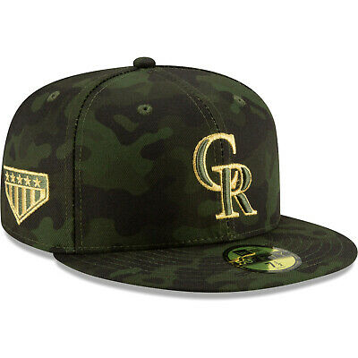 reputable site 653b5 216e7 Colorado Rockies New Era 2019 Armed Forces Day On-Field 59FIFTY Fitted Hat