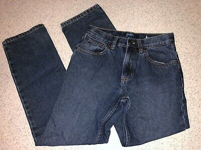 Boys Size 12 Blue Denim Jeans Pants By Outdoor World Adjustable Waistband Cotton