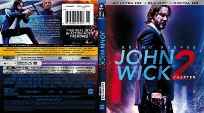 John Wick Chapter 2 4k Ultra HD UHD Blu-ray Brand New