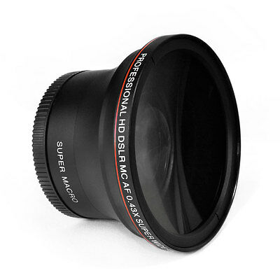 Altura Photo® 58MM .43x Wide Angle Lens with Macro for Canon DSLR Cameras new