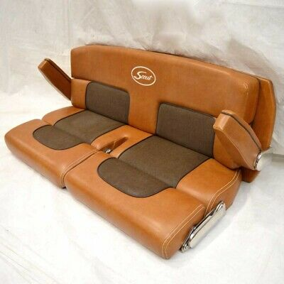 Surprising Scout Boat Bench Seat Dual Bolster Brown Faux Leather Dailytribune Chair Design For Home Dailytribuneorg