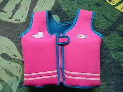 Zoggs Pink Swim Vest Swimsuit Flotation Aid 4-5