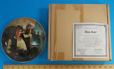 Han Solo Star Wars Collectors Plate With Coa 1986 First Issue #4409A Hamilton