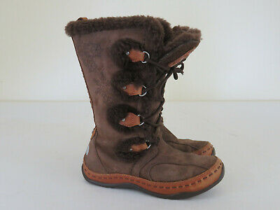 42f7389b1 THE NORTH FACE Abby III Brown Suede Primaloft Insulated Winter Boots Womens  5.5