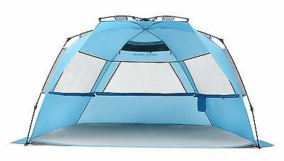 Pacific Breeze Easy Setup Beach Tent Deluxe XL - Certified Refurbished