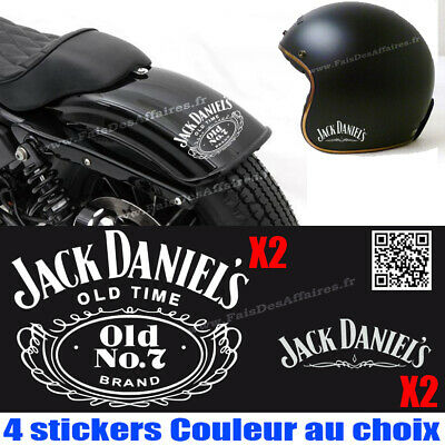 lot 4 stickers autocollant jack daniel's old eco moto decal reservoir ipad
