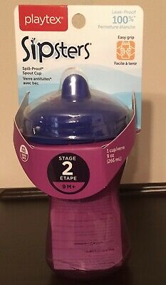 Playtex Sipster Stage 2 Spill Proof Leak Proof Break Proof Spout Cup