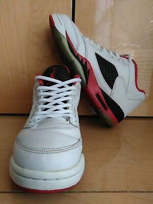 finest selection 1ade7 2c865 Nike Air Jordan Retro 5 Low Fire White Red Black Youth Boys 4.5y