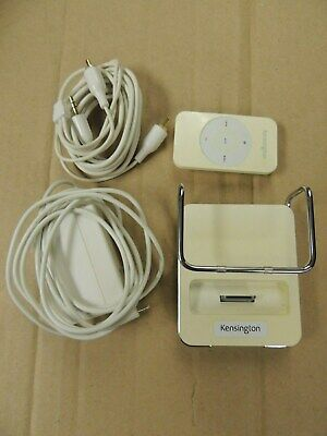 Kensington 33164 Stereo Dock for iPod, iPod Mini, with Remote & Cables