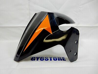 TAOTAO 50cc THUNDER BLADE FRONT WHEEL FENDER (BLACK / ORANGE) *OEM*