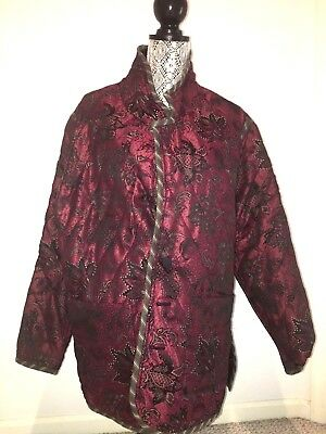 Antique Traditional Chinese Jacket, reversible (Red/Black, Satin/Velvet)