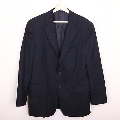Joseph Abboud Wool Mens Sport Coat 42R 2 Button Jacket Navy Blue