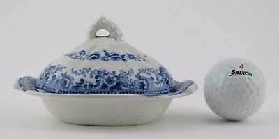 Miniature pearlware covered serving dish c1840. Charles Meigh trade sample.