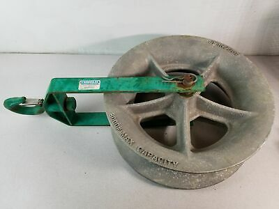 "Greenlee 8018 18"", 8000 lb Capacity Hook Sheave, Cable Pulling Sheave"