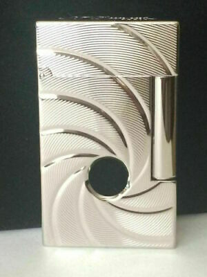 Bond 007 Lighters S.T Dupont Memorial Lighter PING Sound Engraving Rotate Silver