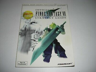 FINAL FANTASY VII 7 OFFICIAL Brady Games STRATEGY GUIDE BOOK PS1 PSX Playstation