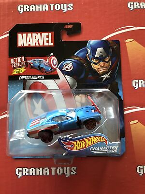Captain America with flip shield 2019 Hot Wheels Marvel Character Cars Mix L