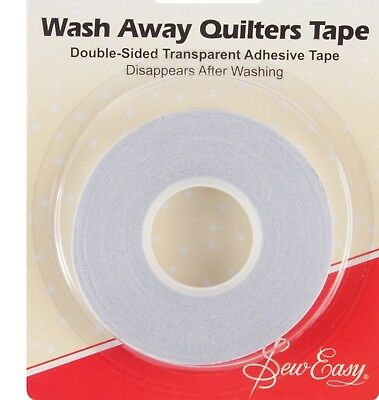 SEW EASY DOUBLE-SIDED TRANSPARENT WASH-AWAY QUILTERS TAPE 10m x 8mm/11yds x 5/16