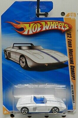 1962 62 Ford Mustang Concept White Roadster 28 028 2010 Hw Hot Wheels