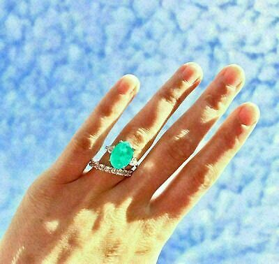SPECIAL 2.50 Carat Black Opal Square Cut And Accents .925 Silver Ring Size US8