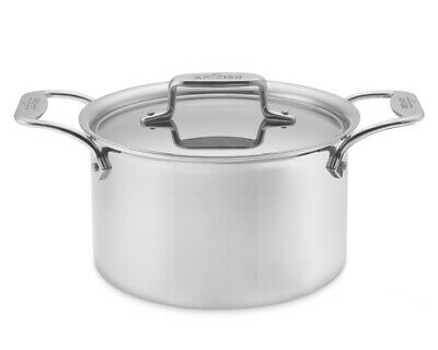All Clad D5 Soup Pot 4 Quart w/ Lid SD552043 Stainless Steel NIB