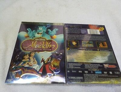 Aladdin (DVD, 2004, 2-Disc Set,Special Edition) - NEW & SEALED FREE SHIPPING