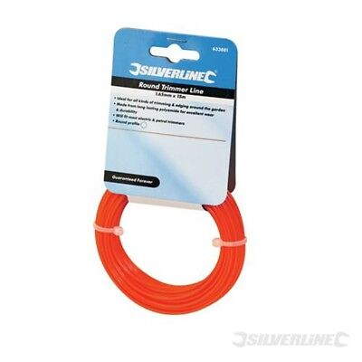 Silverline Trimmer Line Round 1.65mm x 15m - 165mm 633881 S