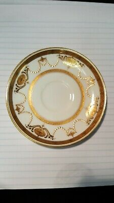 Minton TIFFANY &CO Gold Encrusted Ivory Saucer H4243 rare