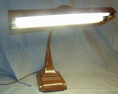 Vtg Electric Art Deco Style Mid Century Art Specialty Co. Gooseneck Lamp WORKS