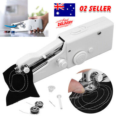 Mini Portable Handheld Cordless Sewing Machines Hand Held Stitch Home Clothes A