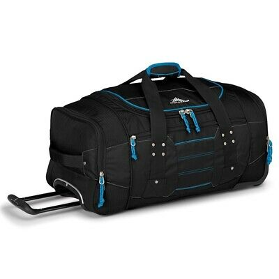 High Sierra 63608 Ultimate Access 66cm Wheeled Duffel + Backpack Straps Black