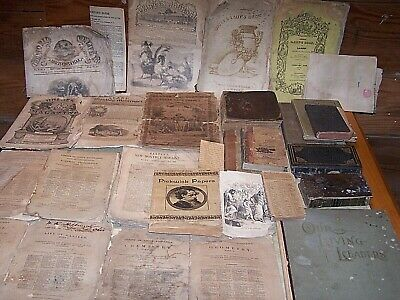 Estate Antique Ephemera Lot 19th & Early 20th Century Books Magazines Papers