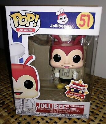 Funko Pop JOLLIBEE IN BARONG #51 Ad Icons Philippine Exclusive Mint