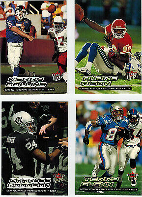 2000 Fleer Ultra Football = Pick 18 to Complete Your Set