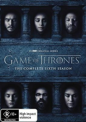 Game Of Thrones : Season 6 (DVD, 2016, 5-Disc Set, Box Set)R0 World Wide