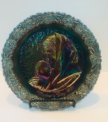 Vintage Carnival Glass Plate Fenton Mothers Day 1971