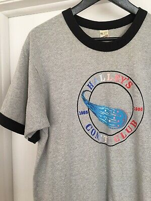 VTG 80s 90s Screen Stars Halley's Comet Graphic Ringer T Shirt XL Space 50/50