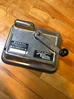 T2 Top-O-Matic Cigarette Rolling Machine Hand Powered Injector