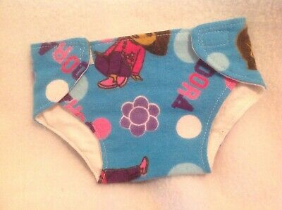 """Cloth Diaper Dora the Explorer blue girl 15"""" BITTY BABY ALIVE CABBAGE PATCH"""