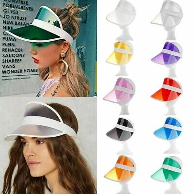 Summer Hat PVC Clear Plastic Sun Visor Party Casual Hat Adult Sunscreen Cap