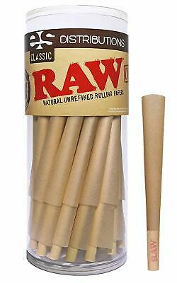 RAW Cones Classic King Size | 50 Pack | Natural Pre Rolled Rolling Paper