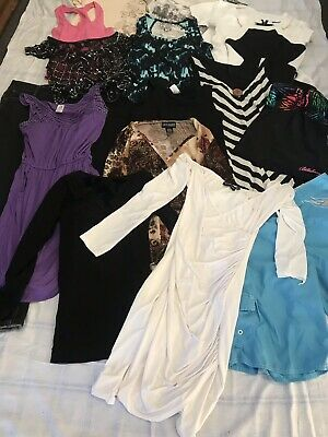 17 Items Clothing Bulk Lot Tops Jeans Sizes 14 12 M 10 8 (More Items Listed!)