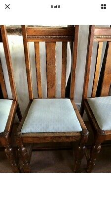 OAK DINING CHAIRS - HIGH BACK.  Set of 4