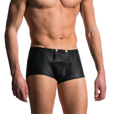 Men Moodies Seamless Boxer Shorts Briefs Sexy Polyester Black Adults Breathable