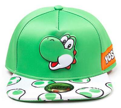 e5490f75d NEW SUPER MARIO Brothers Yoshi Face Snapback Cap Hat Adult in Silver ...