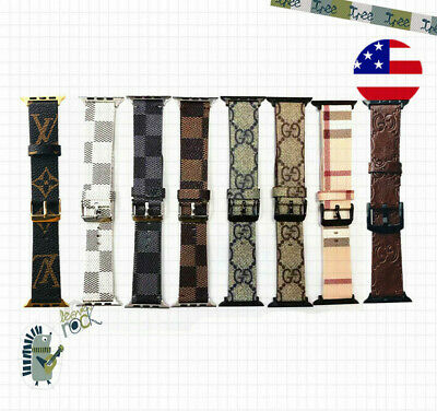 Brand Design iWatch Band 38/42/40/44 Leather Strap For Apple Watch Series 12345