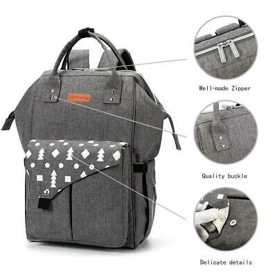 USB Large Luxury Multifunctional Baby Diaper Nappy Backpack Mummy Changing Bag
